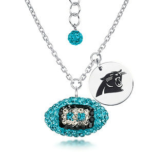 Licensed NFL Carolina Panthers Football Necklace
